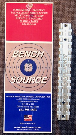 Bench-source.com Savage Picatinny Rail
